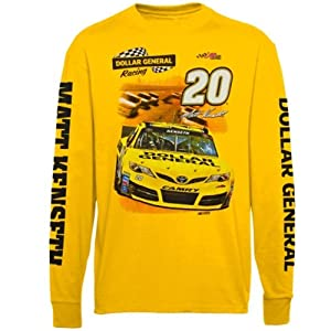 Checkered Flag Matt Kenseth Yellow High Groove Long Sleeve T-Shirt by Checkered Flag