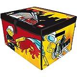 Neat-Oh! LEGO City Fire ZipBin - Large Toy Box & Playmat - Holds ~1500 Bricks