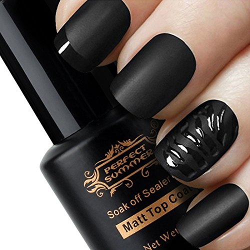 Perfect Summer Pro 8ml Matte Finished Clear Top Coat UV LED Gel Nail Polish for French Maincure Art (Matte Polish compare prices)