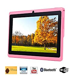 Tagital® 7'' Quad Core Android 4.4 KitKat Tablet PC, Bluetooth, Dual Camera, Netflix, Skype, 3D Game Supported (Pink)