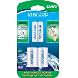 eneloop NEW 2000mAh Typical, 1900mAh Minimum, 1500 cycle, 2 Pack AA, Ni-MH Pre-Charged Rechargeable Batteries with
