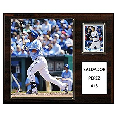 C and I Collectables MLB 15W x 12H in. Salvador Perez Kansas City Royals Player Plaque