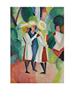 Especial Arte Lienzo The 3 girls - Macke August Multicolor
