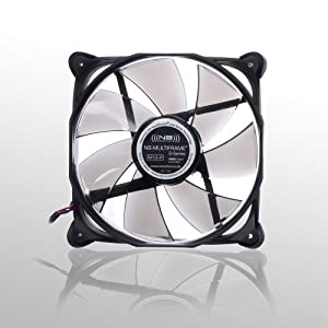 Noiseblocker NB-Multiframe M12-P 120mmx25mm Ultra Silent PWM Fan - 1000-2000 RPM - 12-29 dBA