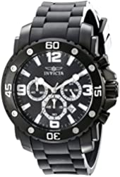 Invicta Men's 18168 Pro Diver Analog Display Japanese Quartz Black Watch