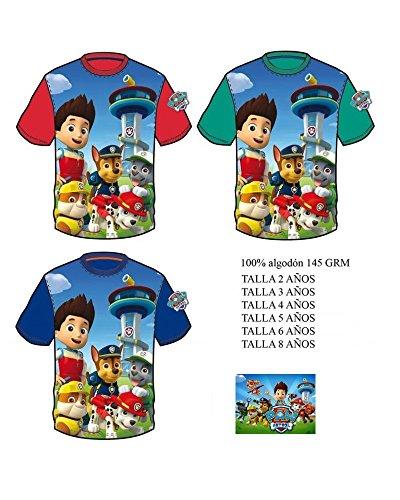 PAW-PATROL-Camiseta-Paw-Patrol-Patrulla-Canina-Manga-Corta-Verde-2