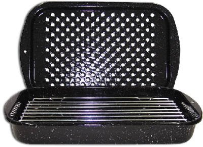 Columbian Home Products 3Pc Broiler Pan/Rack 0513-2 Cookware Ceramic On Steel Open Stock (Small Pan With Rack compare prices)