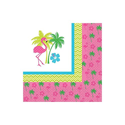 Flamingo Fun Beverage Napkins (16 Pack) - 1