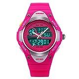 Picture Of Jewtme Boys Girls Digital Analog LED Quartz Watch Waterproof Sports Wrist Watch Pink