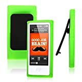 Fits, iPod Nano 7 Case,7th Gen Cover, Compatible For Apple, TPU Belt Clip Series + Green