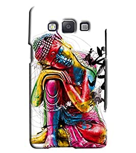 Clarks Budha Inspired Hard Plastic Printed Back Cover/Case For Samsung Galaxy A3