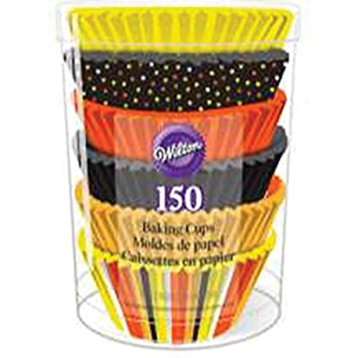 Wilton 415-3211 150 Count Candy Corn Baking Cup Tube, Assorted