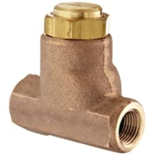 "Parker 032500419 3250 Series Brass Inline Flow Control Valve, 1/2"" NPTF, 250 psi, Standard Adjustment"