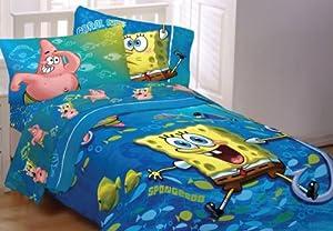 Amazon Com Spongebob Squarepants Fish Swirl 4pc Twin