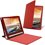 Celicious Red PU Leather Folio Wallet Stand Case for Lenovo YOGA Tablet 10