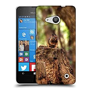 Snoogg Squariril On Wood Designer Protective Phone Back Case Cover For Nokia Lumia 550
