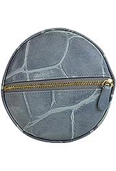 Dooney & Bourke Croc Embossed Leather Jewelry Case Light Blue
