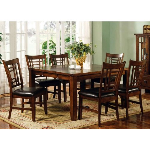 Buy Low Price Lifestyle California Eureka Rectangular Dining Table in Distressed Dark Pecan (16-707)