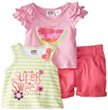 Peanut Buttons Baby-Girls Infant Girl 3 Piece Short Watermelon Set