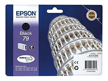 Epson original - 79-noir-cartouche d'encre-pour workForce wF-pro, 4630DWF-wF wF - 5110DW 4640DTWF, 5190DW-wF wF wF - 5620DWF, ePS - 5690DWF c13T79114010 wF5110WF iNK 900pages 79 (noir)