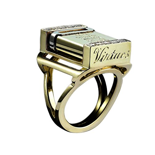 Solange Azagury Partridge Vices & Virtues - Anello in oro giallo 18 ct e diamanti, oro giallo, 56 (17.8), cod. 2
