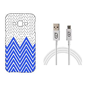 Designer Hard Back Case for Samsung Galaxy E5 with 1.5m Micro USB Cable