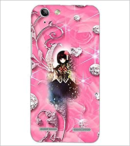 PrintDhaba Cute Girl D-4142 Back Case Cover for LENOVO A6020a46 (Multi-Coloured)