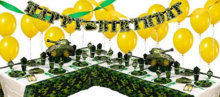 Camouflage army party supplies decoration ideas for Army party decoration ideas