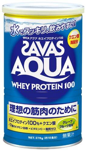 ザバス アクアホエイプロテイン100 グレープフルーツ風味【18食分】 378g