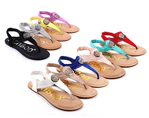 Bamboo New Fashion Rhinestone Slip on Only Style Blink Slingbacks Flats Womens Sandals Shoes New Without Box