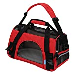 "OxGord® Pet Carrier Soft Sided Cat / Dog Comfort ""FAA Airline Approved"" Travel Tote Bag – 2015 Newly Designed, Small, Crimson Red"