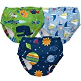 Swim Diapers for Boys (3T, Green Fish)