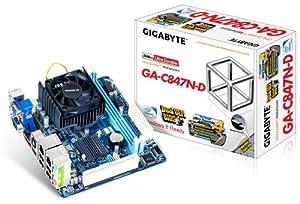 Gigabyte Intel Celeron 847 1.1 GHz Intel NM70 Mini ITX DDR3 1333 Motherboard/CPU/VGA Combo GA-C847N-D