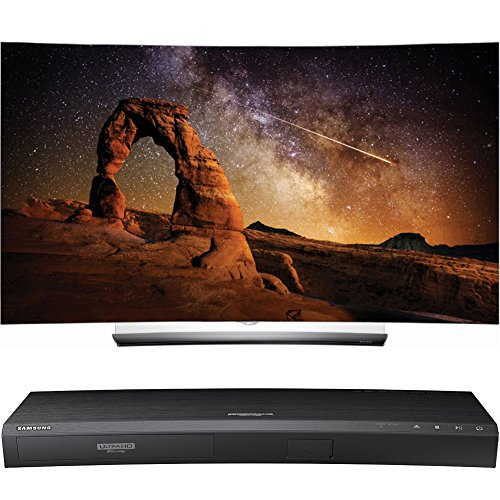 LG OLED55C6P 55-Inch C6 Curved OLED HDR 4K Smart TV with Samsung UBD-K8500 3D Wi-Fi 4K Ultra HD Blu-ray Disc Player