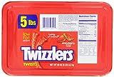 Twizzlers Twists, Strawberry, 5-Pound Package
