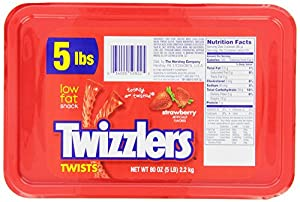 Twizzlers Twists, Strawberry, 5-Pound Package