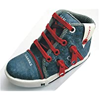 Akki India Kid's Blue and Red Canvas Shoes 10 UK