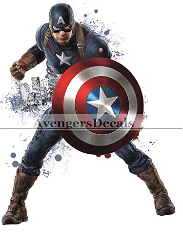 Capt Marvel Avengers Comics Removable Wall Decal Sticker