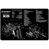 TekMat 11-Inch X 17-Inch Handgun Cleaning Mat with Springfield Armory XD Imprint, Black
