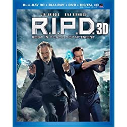 R.I.P.D. (Blu-ray 3D + Blu-ray + DVD + Digital HD with UltraViolet)
