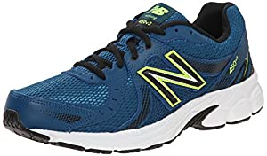 New Balance Men's M450V4 Running Shoe, Navy/Lime, 11.5 4E US
