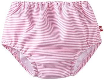 Zutano Baby-Girls Infant Candy Stripe Diaper Cover, Hot Pink, 12 Months