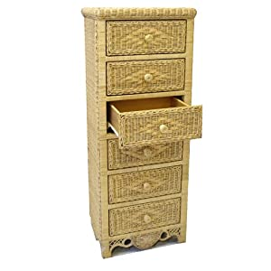 new wicker furniture charlotte lingerie chest natural chests of drawers. Black Bedroom Furniture Sets. Home Design Ideas