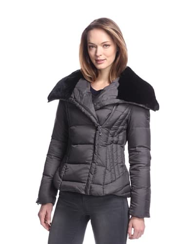 Dawn Levy Women's Mackenzie Down Jacket with Fur Collar  [Arctic]
