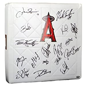2012 Los Angeles Angels of Anaheim Team Signed Base - 17 Sigs - LOA - JSA Certified by Sports+Memorabilia