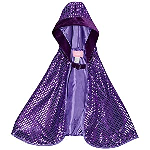 Purple Hooded Sparkle Cape
