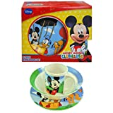 Disney Mickey Mouse Clubhouse Children's Porcelain 3 Piece Dinnerware Set - Plate, Bowl, Mug
