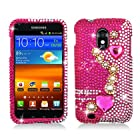 PEARL PINK Rhinestone/Crystal/Bling/Diamond Hard Case Cover For Samsung Galaxy S II Hercules T989 (T-Mobile)