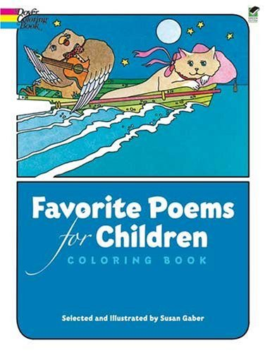 Favorite Poems for Children Coloring Book***SOME COLORING IN IT~~~~~POEMS NOT DAMAGED***