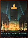 TRAVEL TOURISM NEW YORK CENTRAL PARK AVENUE USA VINTAGE ADVERT POSTER ART 2454PY